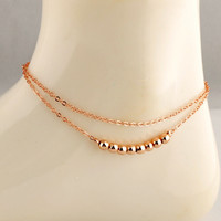New Arrival Shiny Cute Gift Sexy Jewelry Ladies Korean Double-layered Stylish Anklet [6768778119]