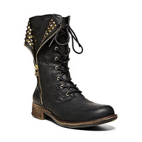 Steve Madden - BARNEY BLACK LEATHER