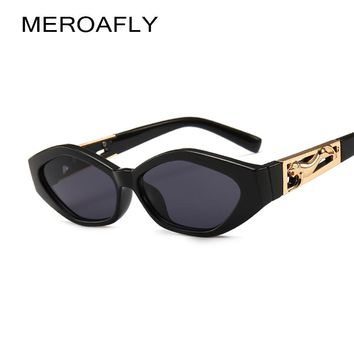 MEROAFLY Small Rectangle Sunglasses Women 2019 Brand Design Vintage Sun glasses For Men Polygon Eyewear UV400 Gafas De Sol
