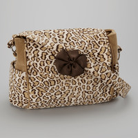 Brown Cheetah Small Diaper Bag | something special every day