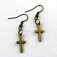 Holy cross earrings, restoring ancient ways women earrings