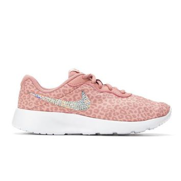 Bedazzled Pink Girls Nike Tanjun | 10.5-3