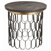 Arteriors Home Orleans Black Iron/Marble End Table - Arteriors Home 6557