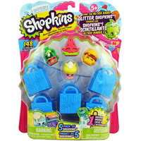 Shopkins 5-Pack [Season 1] with Ultra Rare Glitter Watermelon Melonie Pips