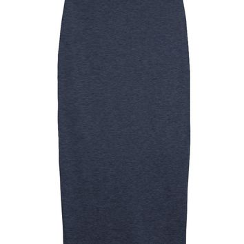 Blue Knit High-waist Skirt