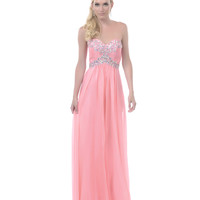 2013 Homecoming Dresses - Dusty Rose Beaded Sequin Strapless Sweetheart Long Dress - Unique Vintage - Prom dresses, retro dresses, retro swimsuits.