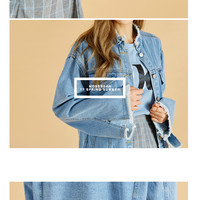Damage Cut Denim Jacket