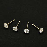 2017 (20 pcs) 925 sterling silver CZ Bone Pin piercing Nose studs