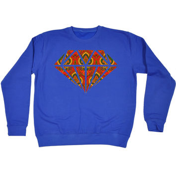 123t USA Rug Diamond Design Funny Sweatshirt