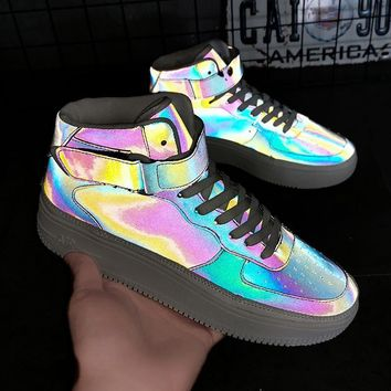 Fashionable chameleon is reflected in help male board shoe individual character recreational shoe joker goes with athletic board shoe