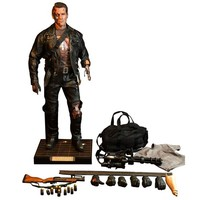 HD Masterpiece Terminator 2 - 1/4 Scale T-800 Figure Battle Damaged Edition -  Terminator 2:  Judgment Day Figures