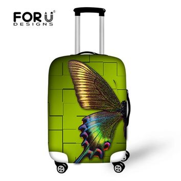 FORUDESIGNS Butterfly Travel Luggage Accessories Elastic Cover for 18-30 Inch Suitcase Women Dustproof Protective Case Cover