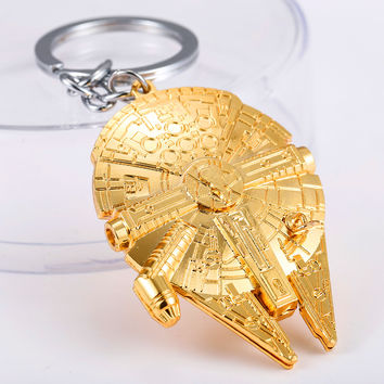 J&R Star Wars Spaceship Golden Keychain