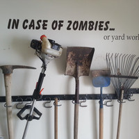 Zombies, In Case Of Zombies Wall Decal, Funny Sticker