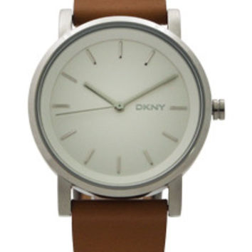NY2339 Soho Light Brown Leather Strap Watch by DKNY (Women)