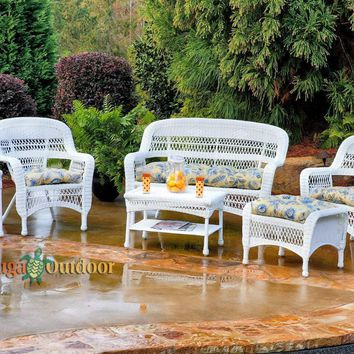 Portside Wicker 6 Piece Seating Set by Tortuga Outdoors
