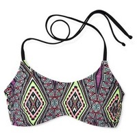 Xhilaration® Junior's Halter Swim Top -Aztec Print