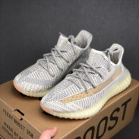 HCXX 19July 175 Adidas Yeezy Boost 350v2 Hollow Comfortable Running Shoes grey