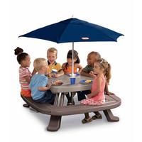 Little Tikes Fold 'N Store Table with Market Umbrella - Little Tikes 1001284 - Outdoor Furniture - FAO Schwarz®