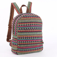 Everyday Backpack, Multicolor Festival Backpack, Leisure Backpack, Stylish backpack, Knapsack, Rainbow Bohemian Gypsy Backpack