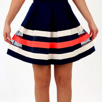 Cut Just Right Skirt: Navy/Multi