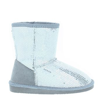 Sequin Kids Snow Boot (SILVER)