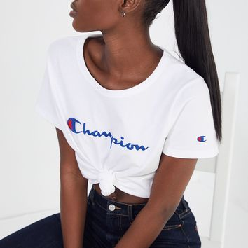 Champion & UO Logo Tee | Urban Outfitters