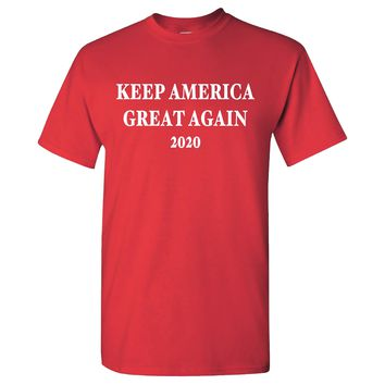 Keep America Great Again MAGA 2020 Donald Trump on a Red Short Sleeve T Shirt