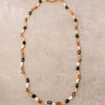 Amber Multi Color Necklace - 26 inch