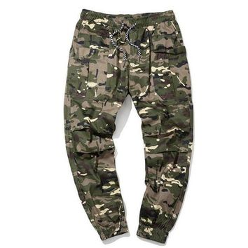 hee grand men casual cargo pants 100% cotton breathable material camouflage slim cuff pants size m 5xl mkx1351