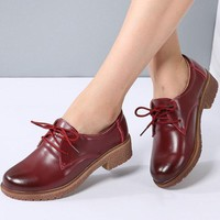 Women Lace up Oxfords Shoes