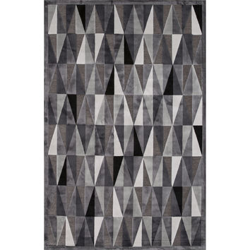Jaipur Rugs Modern Geometric Pattern Gray Rayon and Chenille Area Rug FB92 (Rectangle)