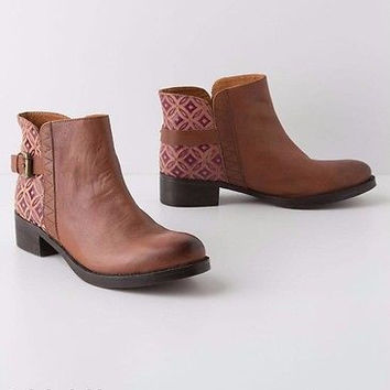 NIB Anthropologie Caravan Tile Booties Sz 38 - By Jasper & Jeera