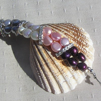 "Multi Colored Freshwater Pearl Bracelet - ""Glamour"""