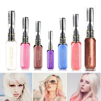 Portable Temporary Color Hair Dye Mascara Non-toxic Hair Mix Color Dyeing Salon Stick @ME88