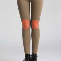 ROMWE | Applique Embellished Cream Leggings, The Latest Street Fashion