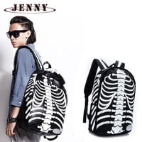 Body Bone Backpack Skull 3D Skeleton Body Racksacks School Bags travel Laptop Rucksack free delivery