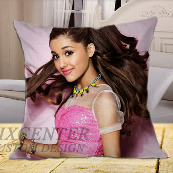 Ariana Grande Cover on Square Pillow Cover