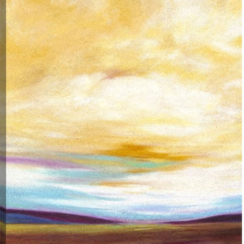 Valley Landscape Canvas Wall Art Print by Marie Meyer