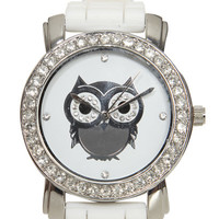 Owl Rhinestone Rubber Watch | Shop Jewelry at Wet Seal