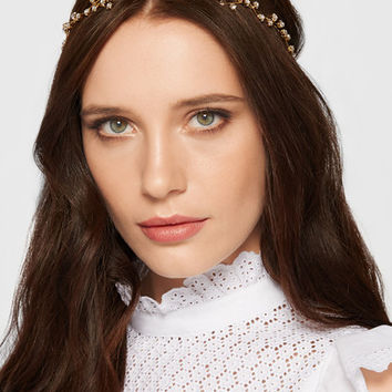 Jennifer Behr - Orion gold-plated Swarovski crystal headband