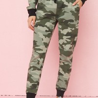 Camo Slouchy High Rise Joggers