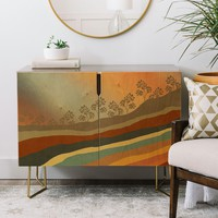 Abstract Retro Landscape 01 Credenza Viviana Gonzalez