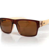 Brown Frame Hacienda Bamboo Sunglasses for Men