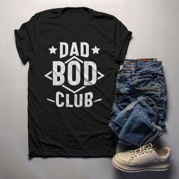 Men's Funny Dad T Shirt Dad Bod Club Gift Idea Tee Father's Day Humor Dad Joke Shirts