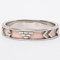 The Aztec Bangle in Blush Leather