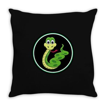 CUTE SNAKE Throw Pillow