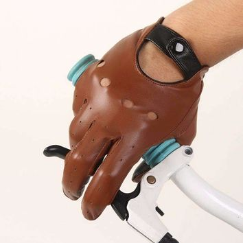 Mens Leather Gloves Driving Unlined Gloves Goatskin Mittens
