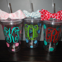 Monogrammed Tumbler by SweetSassyAndClassy on Etsy