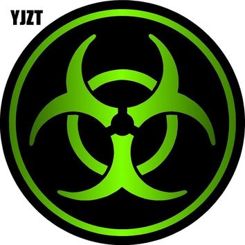 YJZT 8x8cm ZOMBIE Bio Hazard Decal Retro-reflective Car Stickers Bike Motorcycle Car-styling C1-8079